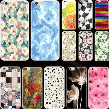 Top Popular Painting Flowers Silicon Phone Cases For Apple iPhone 5 iPhone 5S iPhone5S iPhone SE Case Cover Shell Top Fashion