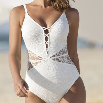 Profile by Gottex Shalimar One-Piece Swimsuit in Ivory E938-2074-106