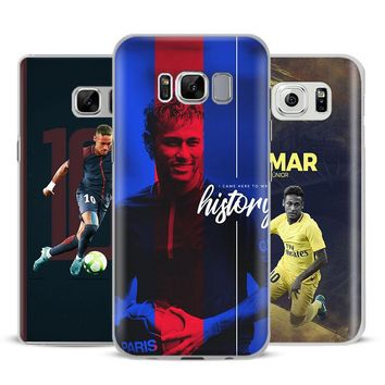 Neymar JR PSG Coque Phone Case Cover Shell For Samsung Galaxy S4 S5 S6 S7 Edge S8 s9 Plus Note 8 2 3 4 5 A5 A7 J5 2016 J7 2017