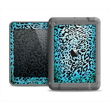 The Hot Teal Cheetah Animal Print Apple iPad Mini LifeProof Fre Case Skin Set