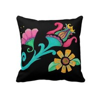 Vintage Floral Embroidery Pillow from Zazzle.com