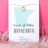 Minnesota State Necklace – Four Sisters Boutique