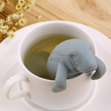 Manatee Shape Tea Infuser Pure Soft Silicone Infuser Kitchen