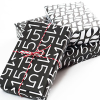 Typography Wrapping Paper A3 for Advent Calender
