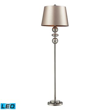 D2228-LED Hollis LED Floor Lamp In Antique Mercury Glass And Polished Nickel - Free Shipping!