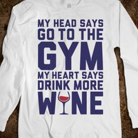 Gym Versus Wine