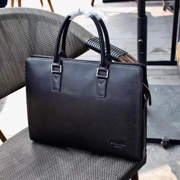 Prada Men's New Style Leather Casual Briefcase Bag