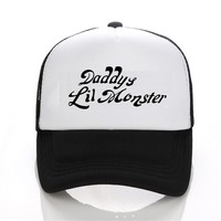 2016 Movie Cosplay Suicide Squad Harley Quinn Costume baseball Cap Daddy's Lil Monster Snapback Hats  Joker Cosplay cap