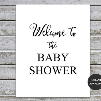 photograph regarding Welcome Signs Template titled Retail store Welcome Boy or girl Shower Symptoms upon Wanelo