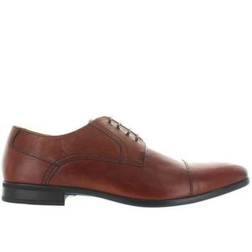 ONETOW Florsheim Burbank - Brown Leather Lace-Up Shoe