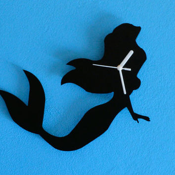Ariel Mermaid Silhouette - Wall Clock