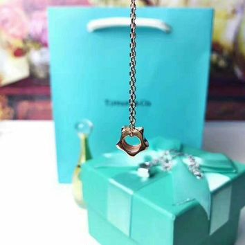 Tiffany fashion simple 925 sterling silver star necklace high quality