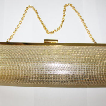 Vintage Clutch Purse Evening Bag Gold Mesh 1960s Nicole Lee Designer