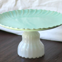Cake Stand in Pastel Aqua Blue Mint Green Icy by TheRocheStudio
