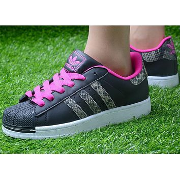 Originals Adidas Superstar Men's Women's Classic Sneaker Sprot Shoes Pink / Black /