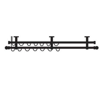 Paris Texas Hardware Quick Ship 1 Inch Double One-Way Draw Traverse Rod