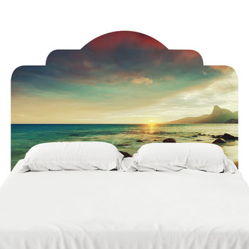 Sunset Beach Headboard Decal