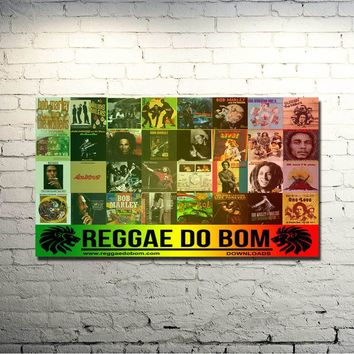 Bob Marley Pop singer songwriter Art Silk Cloth Poster 13x24 inch Pictures For Bedroom Decor 001