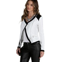Sale- White Lady Chic Moto Jacket