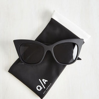 Film Noir Modern Love Of My Life Sunglasses in Noir by Quay from ModCloth