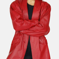 Strange Days Red Leather Jacket