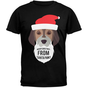 Droopy Dog Santa Ugly Christmas Sweater Black T-Shirt