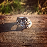 Corsage Sterling Spoon Ring
