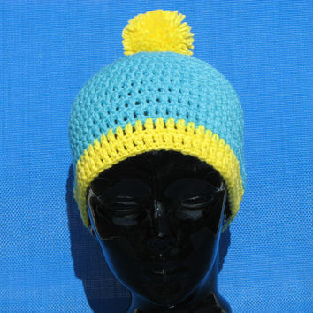 Cartman Hat South Park beanie Eric Cartman by ChellesCraftCorner