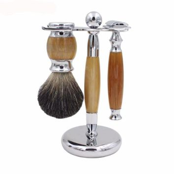 Double Edge Safety Razor Shaving Kit.