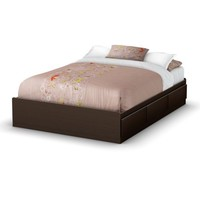 South Shore Storage Full Bed Collection 54-Inch Full Mates Bed, Chocolate