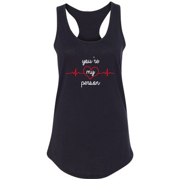 "Grey's Anatomy TV Show ""You're My Person"" Racerback Tank Top"