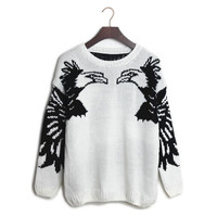 Aliexpress.com : Buy Free shipping 2013 Korean style personalized bat sleeve long sleeve eagle pattern thickening sweater Pullover XCD2081 822 39  from Reliable pullover angora suppliers on eFoxcity Wholesale