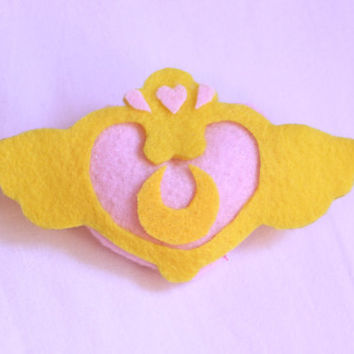 Sailor Moon Compact Brooch - Plush Pin SPECIAL REDUCED PRICE