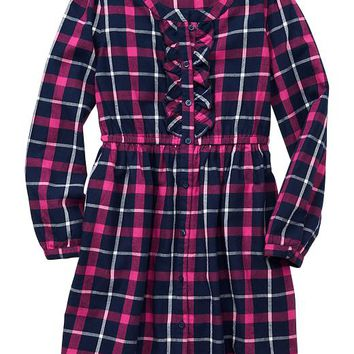 Gap Girls Factory Plaid Ruffle Dress