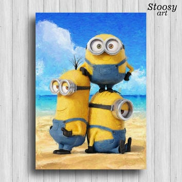 Minion print nursery room decor dreamworks art