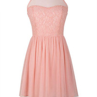Pink Lace Tulle Dress