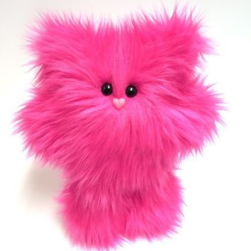 Plush Monster -- Hot Pink Petunia -- Cute Stuffed Animal