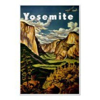 Yosemite National Park ~ Vintage Travel Poster