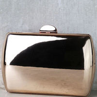 Reflected Image Rose Gold Mirrored Clutch