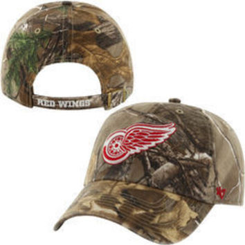 NHL 47 Brand Detroit Red Wings Realtree Camo Clean Up Adjustable Hat