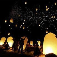 FLYING CHINESE SKY LANTERNS
