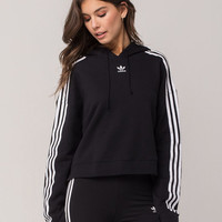 ADIDAS Originals Three Stripes Womens Crop Hoodie