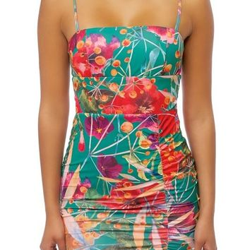 Bahama Mama Floral Bodycon Mini Dress