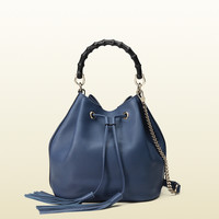 Gucci - miss bamboo leather bucket bag 387613A7M0G4246