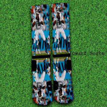 Cam-Newton-Dab-Carolina Socks,Custom socks,Personalized socks,Elite socks