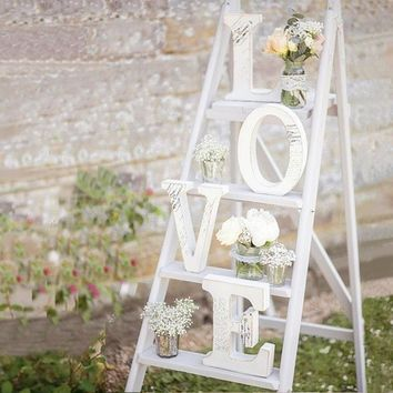 Free shipping Wedding Decorations Mariage Decor Birthday Party Decorations White Letters Sign Hot Home Wood Alphabet