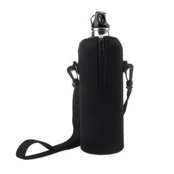 Hot Sale 1000ml Water Bottle Carrier Insulated Cover Bag Pouch Holder Shoulder Strap Outdoor Tool ISP