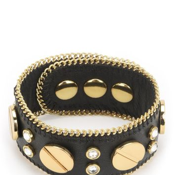 Screw Head Leather Bracelet by Juicy Couture