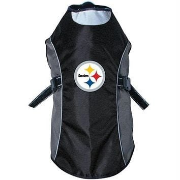 Pittsburgh Steelers Water Resistant Reflective Pet Jacket