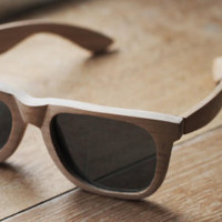 Hand crafted wooden sunglasses (untreated Cherry)
